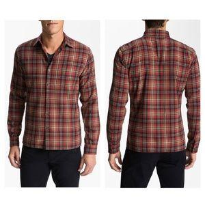 Vince Plaid Cotton Flannel Shirt